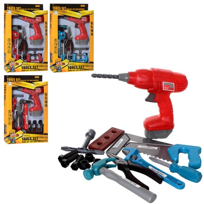Набор инструментов, дрель, молоток, плоскогубцы, 932-932-2