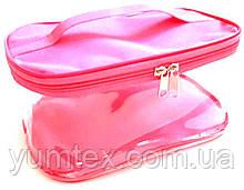 Прозора сумочка ручної роботи із силіконової плівки і водонепроникної тканини рожева