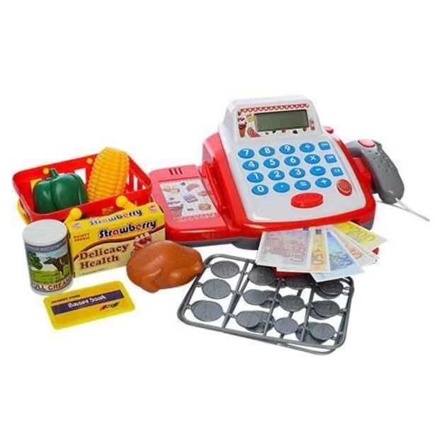 Кассовый аппарат, сканер, корзинка, продукты, 2 вида, 6100A-6300A