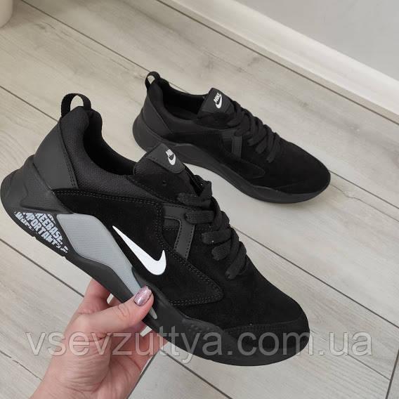 Кросівки чоловічі чорні натуральна замша 42р