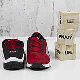 Жіночі спортивні кросівки, червоні замшеві BaaS L1611-8. Повсякденні жіночі кросівки на високій підошві, фото 3