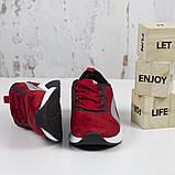 Жіночі спортивні кросівки, червоні замшеві BaaS L1611-8. Повсякденні жіночі кросівки на високій підошві, фото 4