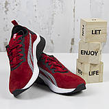 Жіночі спортивні кросівки, червоні замшеві BaaS L1611-8. Повсякденні жіночі кросівки на високій підошві, фото 5