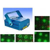 Лазерный диско проектор стробоскоп лазер светомузыка с фигурной проэкцией