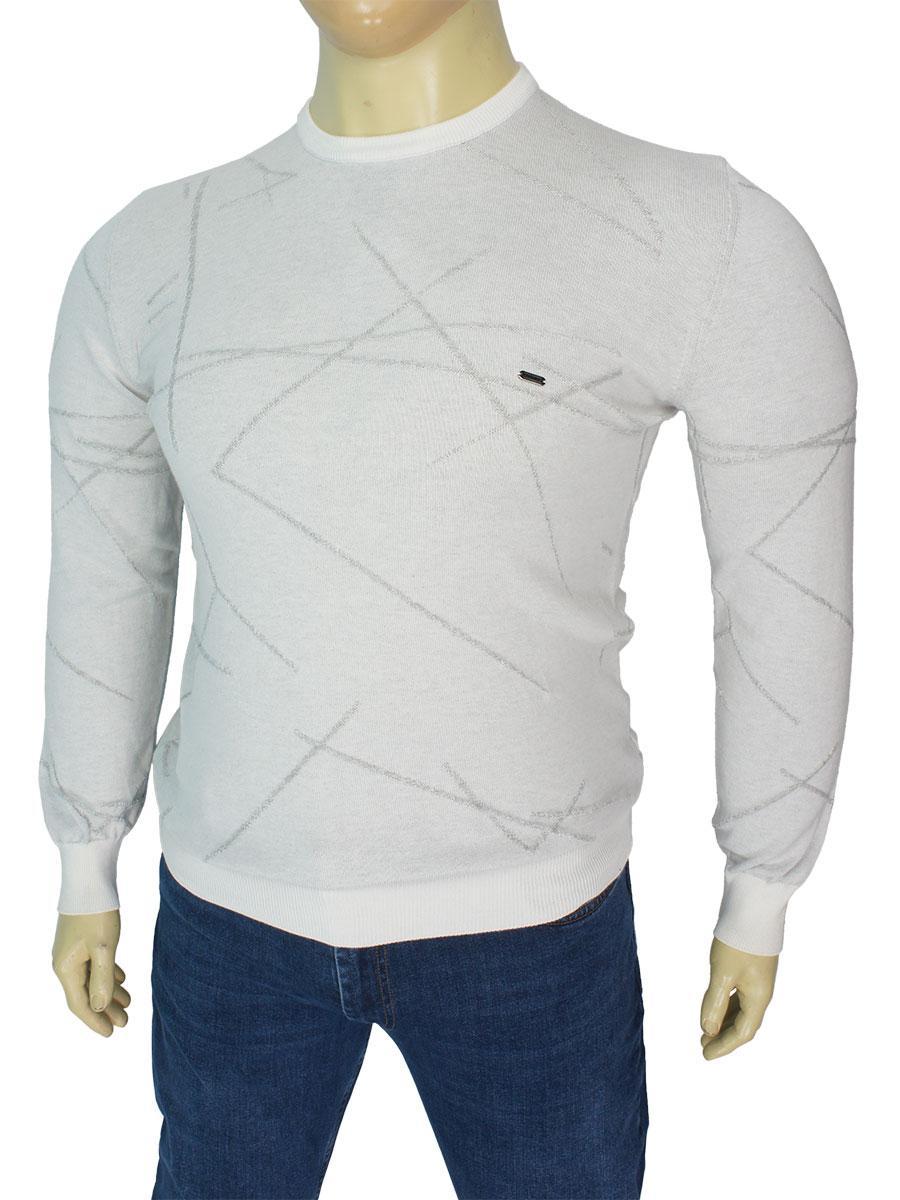 Светлый мужской свитер Cott're 20601 Grey в большом размере