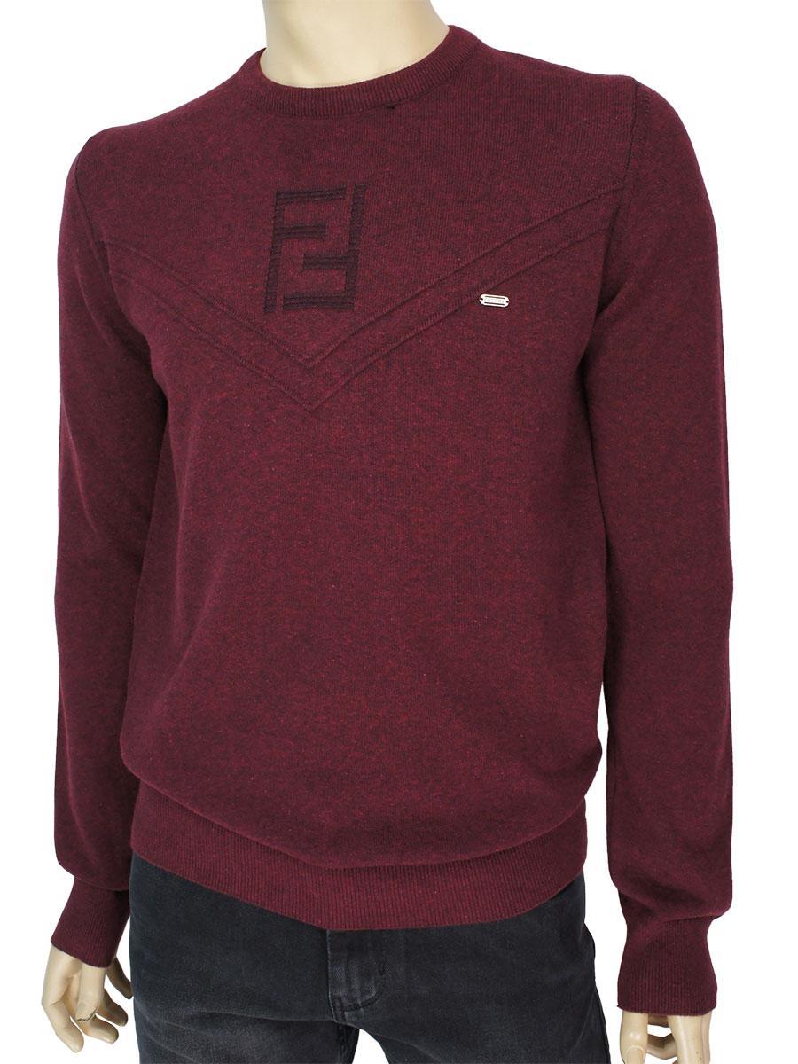 Стильный мужской хлопковый свитер Cott're 20518 в бордовом цвете