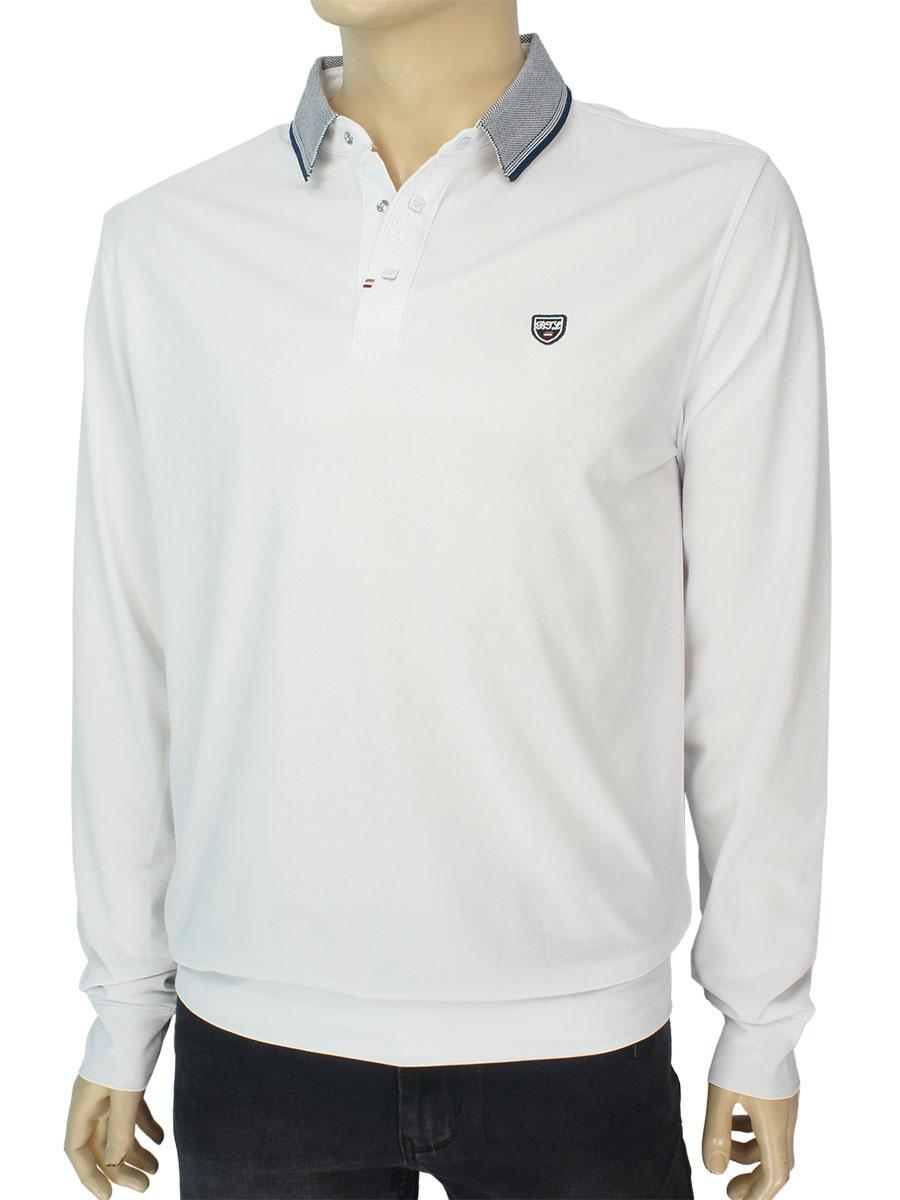 Стильный мужской трикотажный свитер Better Life 320 H Beyaz белого цвета