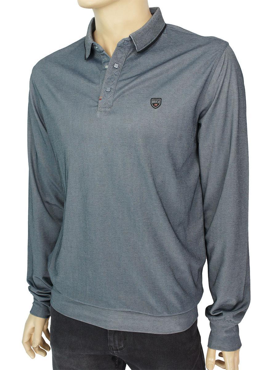 Трикотажний чоловічий светр Better Life 320 H K-Gri в темно-сірому кольорі