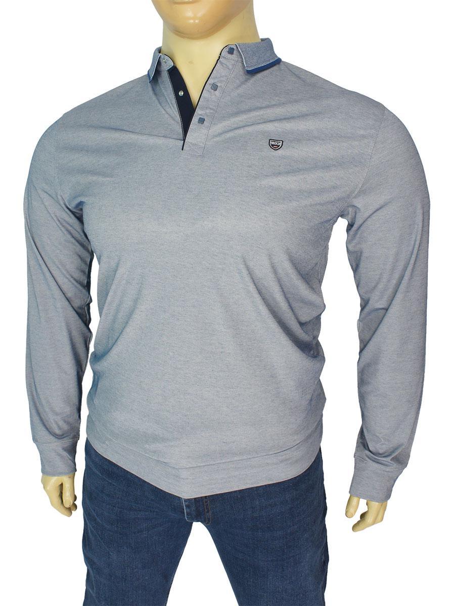 Мужской турецкий свитер Better Life 914 B Royal большого размера