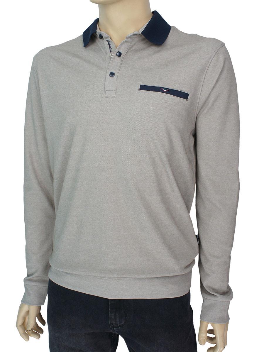 Хлопковый мужской свитер Caporicco 9237 H Tama воротник-поло