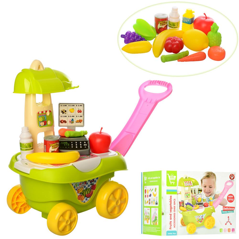 Детский магазин-прилавок, тележка, продукты, 922-34