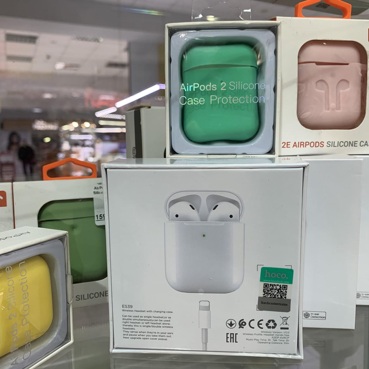 Гарнитура bluetooth Hoco ES39 Оригинал Вкладыши Bluetooth Прямой Белый