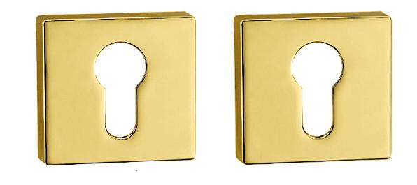Дверная накладка под цилиндр PZ Forme Q латунь полированная (Италия)