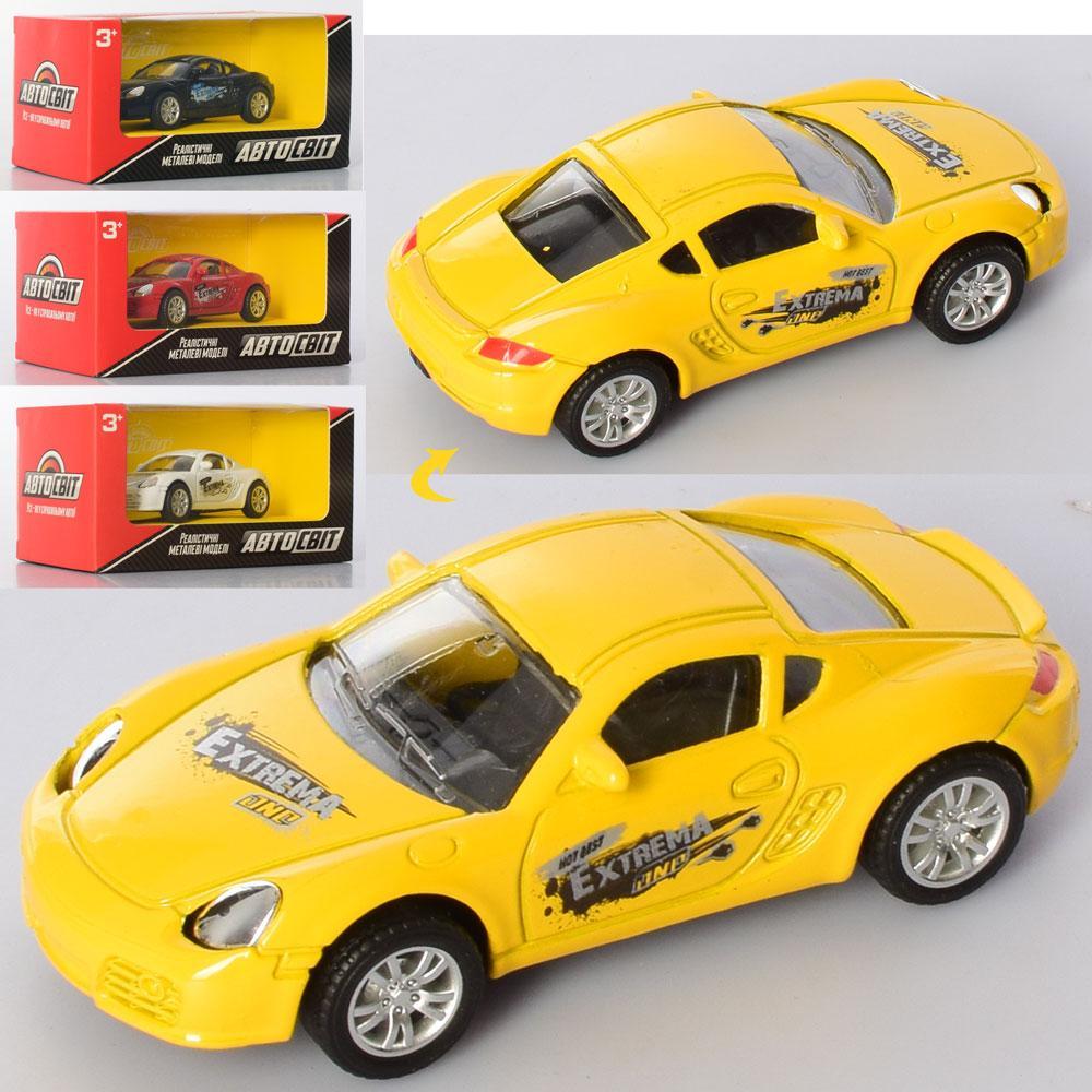 Машина АвтоМир, металл/пластик, инерционная, 9см, 4 цвета, AS-2598