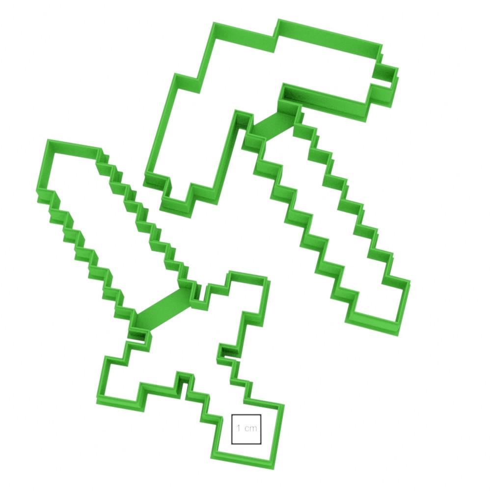 Висічка для пряників у вигляді меча Minecraft