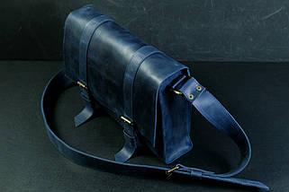 """Мужская сумка """"Модель №47"""" Винтажная кожа цвет Синий, фото 2"""