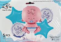Набор фольгированных шаров baby boy, фото 1