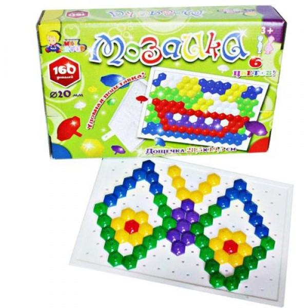 """Мозаика """"Гвоздик"""" (160 дет.), МГ-086, Maxgroup"""