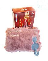 Грілка-муфта для рук рожева з котом