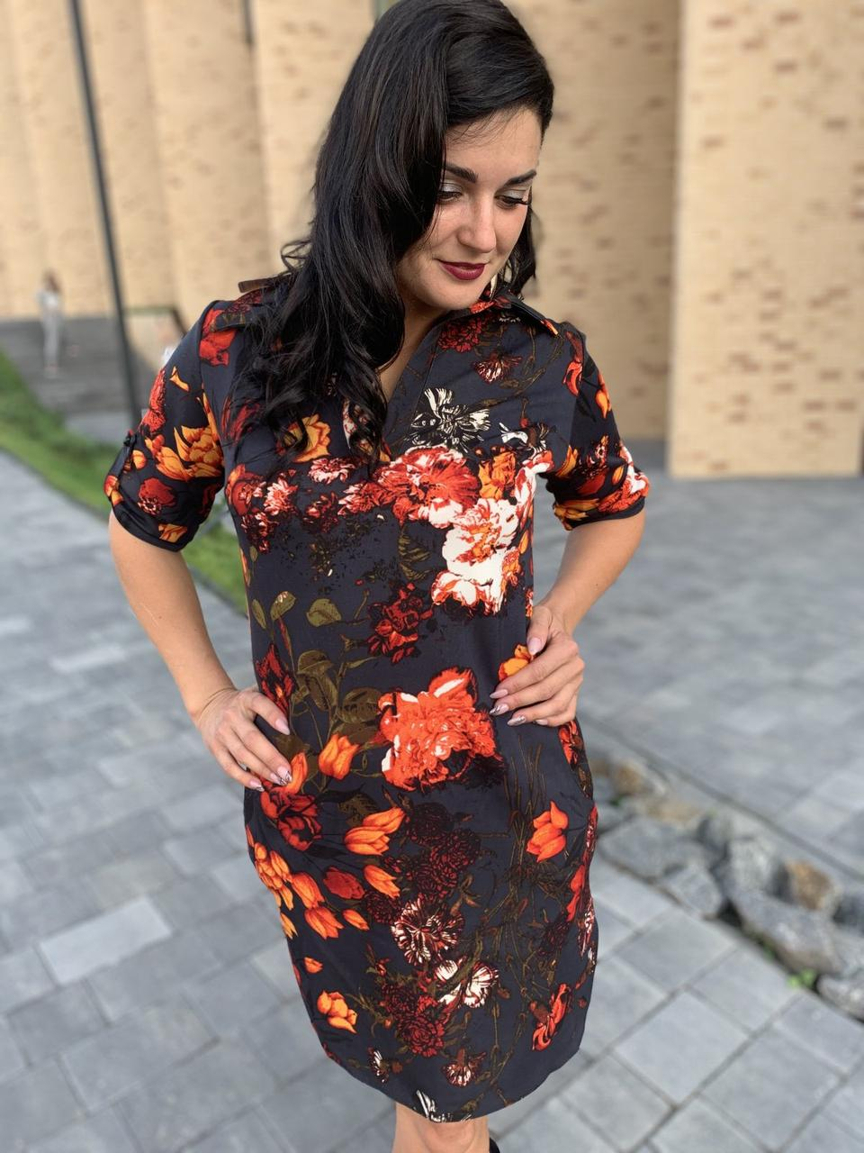 Красивое платье-рубашка
