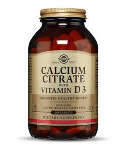 Кальций цитрат с витамином Д3 Solgar Calcium Citrate with Vitamine D3 240 tabs