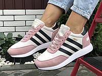 Женские замшевые зимние кроссовки Adidas Iniki, фото 1