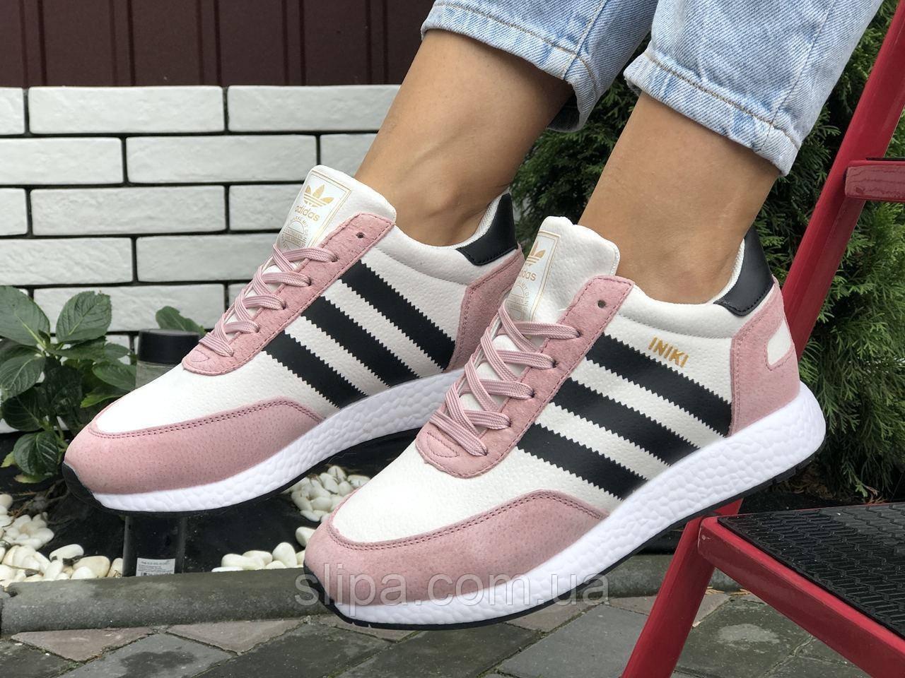 Женские замшевые зимние кроссовки Adidas Iniki