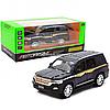 Машинка игровая автопром «Toyota» Тойота джип, металл, 18 см, Черный (свет, звук, двери открываются) 7690