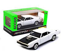 Машинка игровая автопром «1970 Dodge Charger RT» Белый 18 см (32011), фото 1