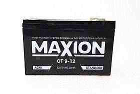 Акумулятор промисловий MAXION 12V 9Ah