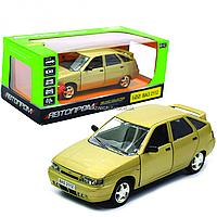 Машинка игровая автопром «ВАЗ-2112» (свет, звук) цвет золото, фото 1