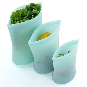 Набір №2 пакет-контейнери для зберігання/готування/перенесення їжі Бірюзовий КОД: hub_gqXQ19136