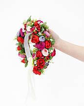 Венок с цветами на голову, фото 3