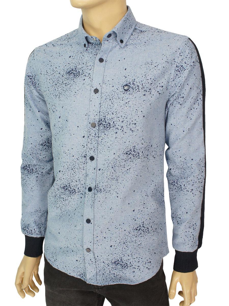 Оригінальна чоловіча сорочка NCS 7969 Mavi