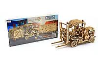 Деревянный механический конструктор Wood Trick Погрузчик.Техника сборки - 3d пазл, фото 1