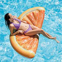 Матрас надувной Intex Апельсин (Orange Slice) арт.58763. Отлично подходит для отдыха на море, в бассейне, фото 1