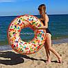Надувной круг Intex Пончик с присыпкой (Rainbow donut)56263NP. Отлично подходит для отдыха на море, в бассейне