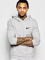 Мужская толстовка худи Найк (Nike) с капюшоном трикотажная (на флисе и без) копия