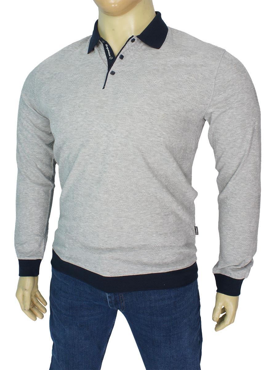 Стильний чоловічий светр Caporicco 9263 В Gri-melanj великого розміру
