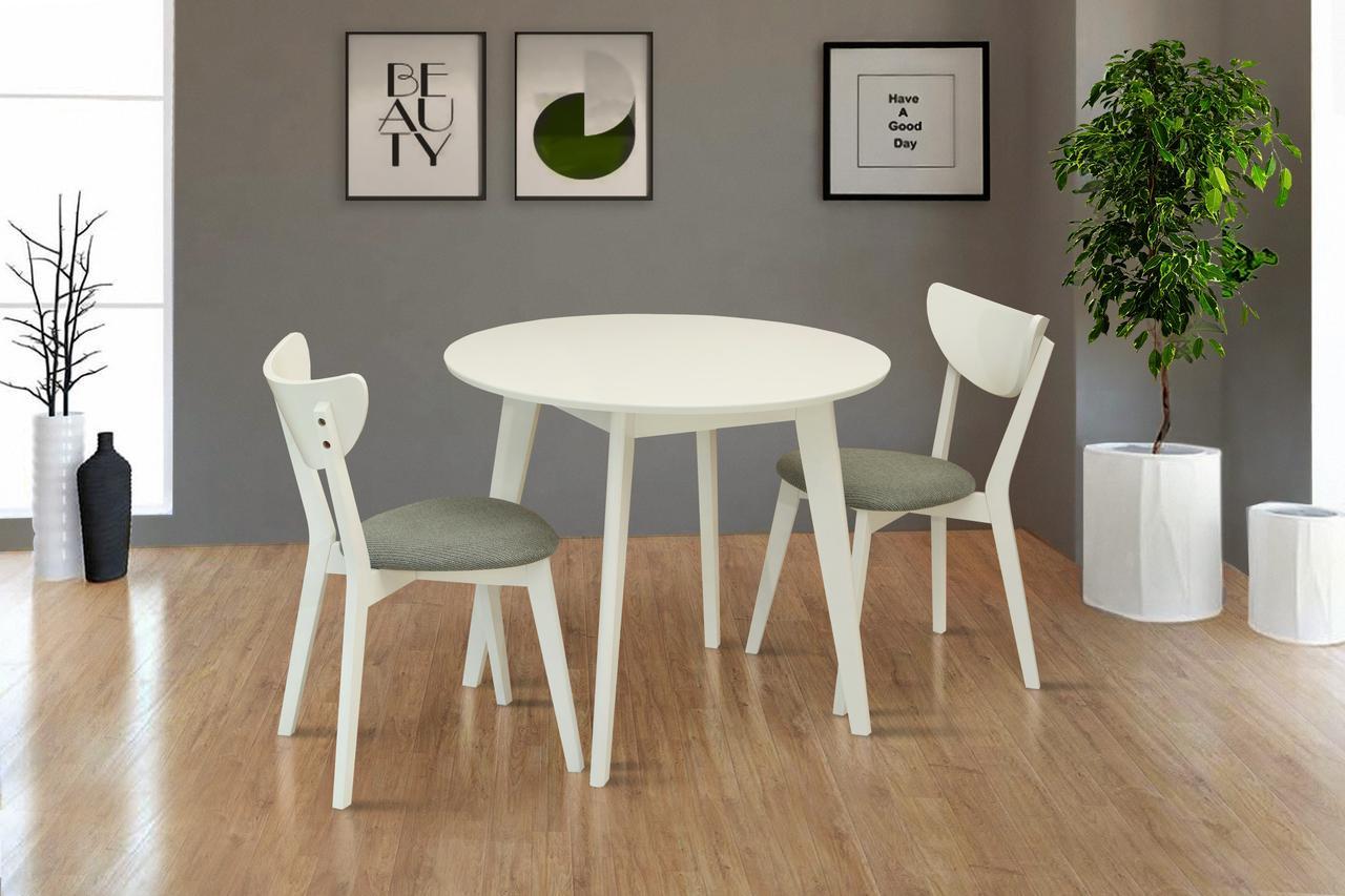 Стол обеденный круглый Модерн 90 см (белый)