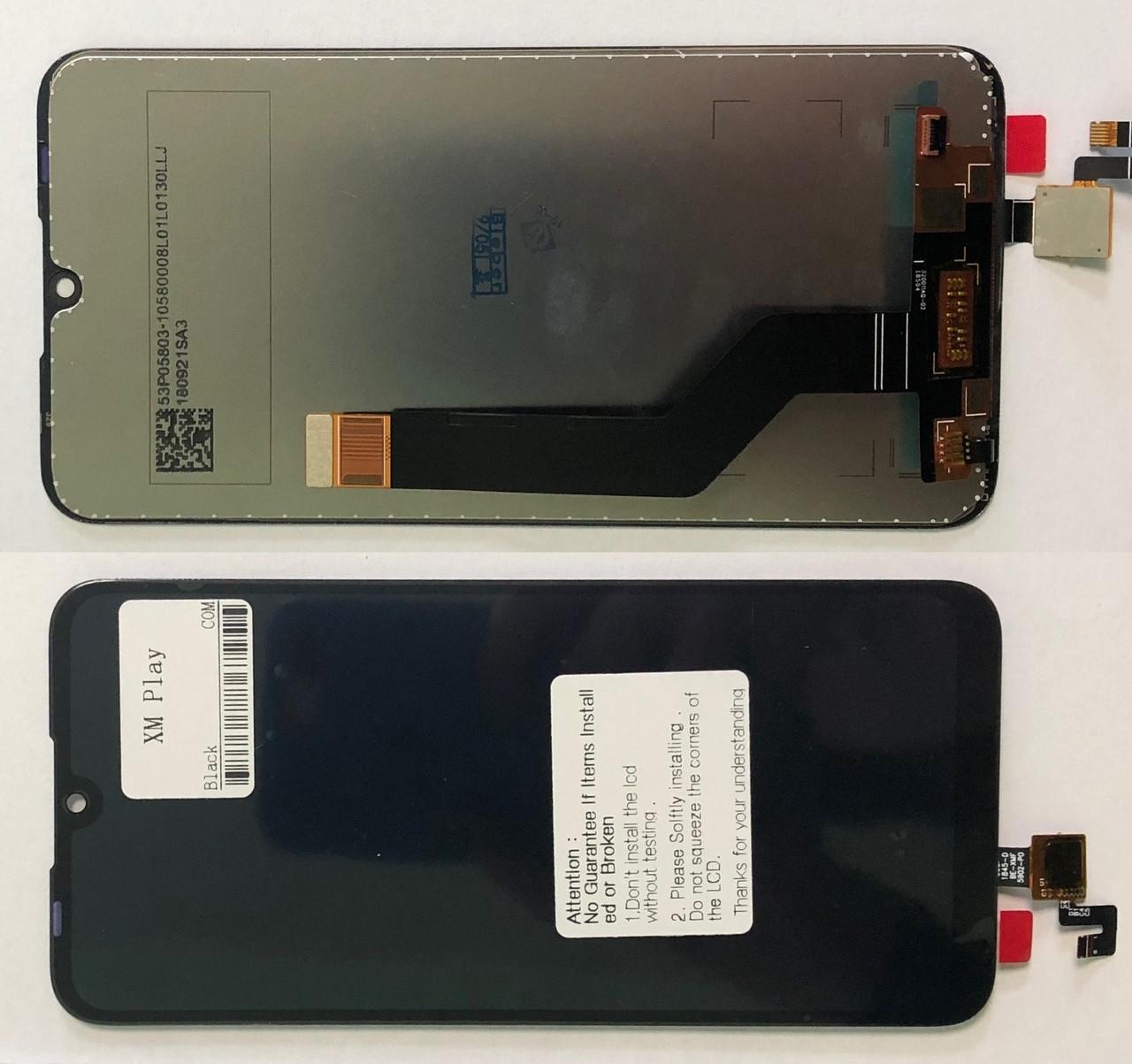 Дисплей Xiaomi Mi Play модуль в сборе с тачскрином черный