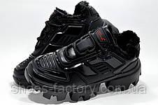 Зимние кроссы в стиле Prada Прада Клауд Буст Тандер Black, фото 3
