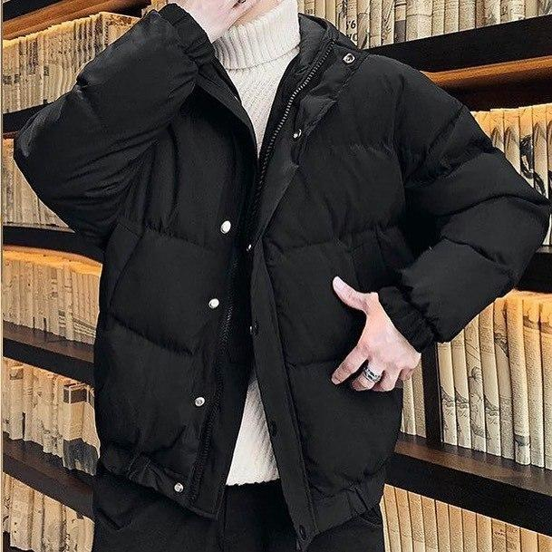 😜 Куртка - Мужскаяя куртка оверсайз черного цвета