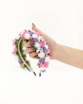 Ободок на голову - весняні квіточки, фото 2
