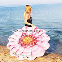 Надувной плотик, матрас Intex Розовый цветок (58787). Для пляжа, фото 1