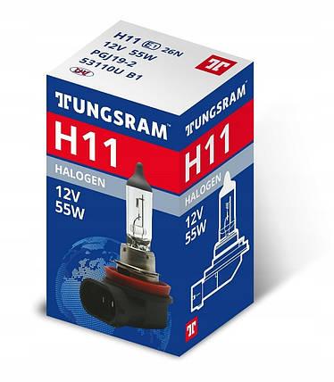 Автолампа галоген Tungsram H11 55W 12V (1 шт./коробка) Standart, фото 2