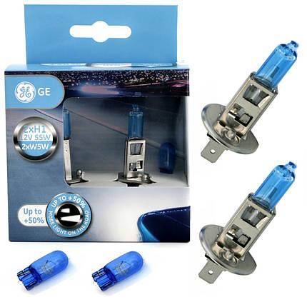 Автолампа галоген GE H1 55W 12V Sportlight +50% + W5W Blue (2+2 шт./картонбокс), фото 2