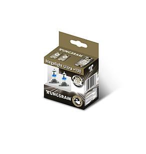 Автолампи галоген Tungsram H4 60/55W 12V (2 шт./картонбокс) Megalight Ultra +130%, фото 2