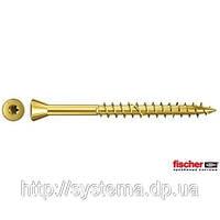 Fischer FTF-ST 3,5 x 45 YZP 500 шт. - Шуруп для паркета, цинк желтый