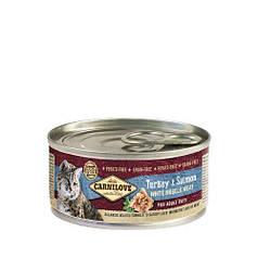 Влажный корм для взрослых кошек Carnilove Turkey & Salmon for adult cats (индейка и лосось) 100 г